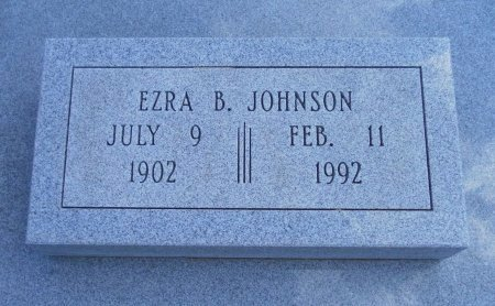 JOHNSON, EZRA BEEDLE (VETERAN WWII) - Cowley County, Kansas | EZRA BEEDLE (VETERAN WWII) JOHNSON - Kansas Gravestone Photos