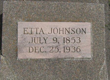 JOHNSON, ETTA - Cowley County, Kansas | ETTA JOHNSON - Kansas Gravestone Photos