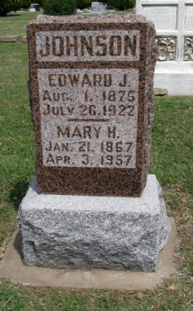 JOHNSON, EDWARD JOSEPH - Cowley County, Kansas | EDWARD JOSEPH JOHNSON - Kansas Gravestone Photos