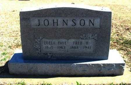 JOHNSON, FRED H - Cowley County, Kansas | FRED H JOHNSON - Kansas Gravestone Photos
