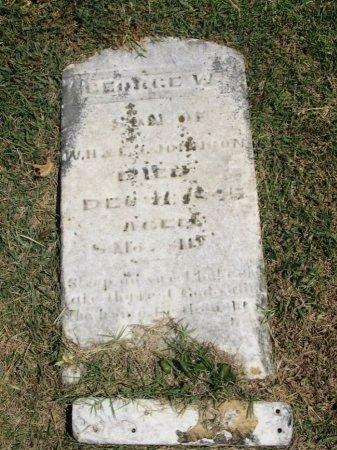 JOHNSON, GEORGE W - Cowley County, Kansas   GEORGE W JOHNSON - Kansas Gravestone Photos