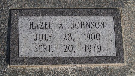 JOHNSON, HAZEL AGNES  - Cowley County, Kansas | HAZEL AGNES  JOHNSON - Kansas Gravestone Photos
