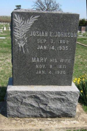 JOHNSON, JOSIAH E - Cowley County, Kansas | JOSIAH E JOHNSON - Kansas Gravestone Photos