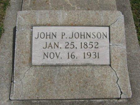 JOHNSON, JOHN P - Cowley County, Kansas | JOHN P JOHNSON - Kansas Gravestone Photos