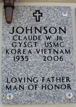 JOHNSON , CLAUDE W, JR (VETERAN 2 WARS) - Cowley County, Kansas | CLAUDE W, JR (VETERAN 2 WARS) JOHNSON  - Kansas Gravestone Photos