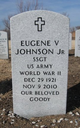 JOHNSON , EUGENE V, JR  (VETERAN WWII) - Cowley County, Kansas | EUGENE V, JR  (VETERAN WWII) JOHNSON  - Kansas Gravestone Photos