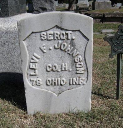 JOHNSON, LEVI FIESTER (VETERAN UNION) - Cowley County, Kansas   LEVI FIESTER (VETERAN UNION) JOHNSON - Kansas Gravestone Photos