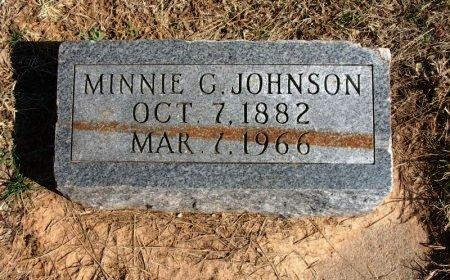 JOHNSON, MINNIE G - Cowley County, Kansas   MINNIE G JOHNSON - Kansas Gravestone Photos