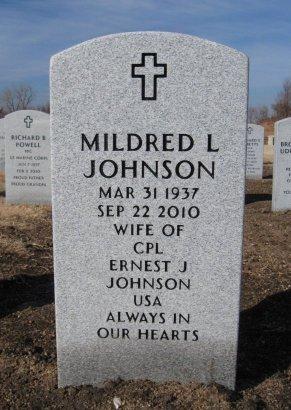 JOHNSON, MILDRED L - Cowley County, Kansas   MILDRED L JOHNSON - Kansas Gravestone Photos