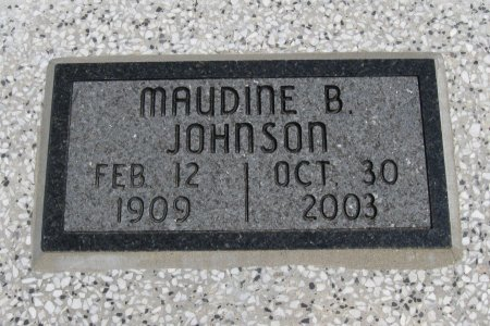 JOHNSON, MAUDINE BELLE - Cowley County, Kansas | MAUDINE BELLE JOHNSON - Kansas Gravestone Photos