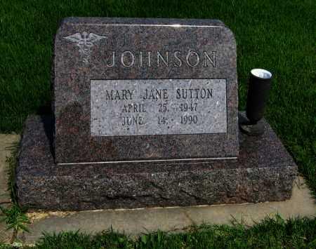 JOHNSON, MARY JANE - Cowley County, Kansas   MARY JANE JOHNSON - Kansas Gravestone Photos