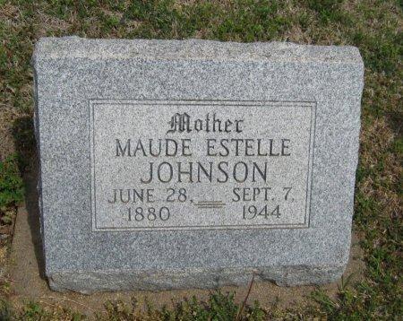 JOHNSON, MAUDE ESTELLE - Cowley County, Kansas | MAUDE ESTELLE JOHNSON - Kansas Gravestone Photos