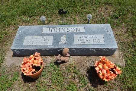 JOHNSON, ARNOLD V (VETERAN WWII) - Cowley County, Kansas | ARNOLD V (VETERAN WWII) JOHNSON - Kansas Gravestone Photos