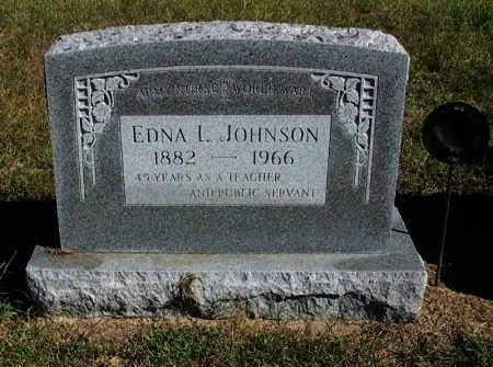 JOHNSON, EDNA LEONE (VETERAN WWI) - Cowley County, Kansas | EDNA LEONE (VETERAN WWI) JOHNSON - Kansas Gravestone Photos