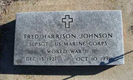 JOHNSON, FRED HARRISON  (VETERAN WWII) - Cowley County, Kansas   FRED HARRISON  (VETERAN WWII) JOHNSON - Kansas Gravestone Photos