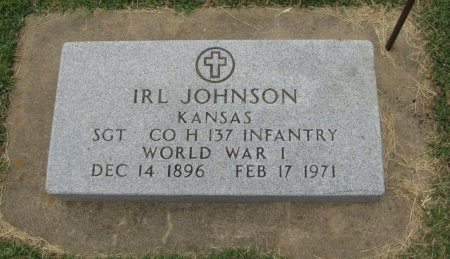 JOHNSON, IRL  (VETERAN WWI) - Cowley County, Kansas | IRL  (VETERAN WWI) JOHNSON - Kansas Gravestone Photos
