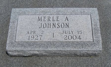 JOHNSON, MERLE A (VETERN WWII) - Cowley County, Kansas | MERLE A (VETERN WWII) JOHNSON - Kansas Gravestone Photos