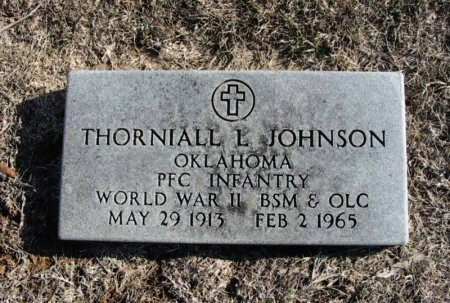JOHNSON, THORNIALL L (VETERAN WWII) - Cowley County, Kansas | THORNIALL L (VETERAN WWII) JOHNSON - Kansas Gravestone Photos