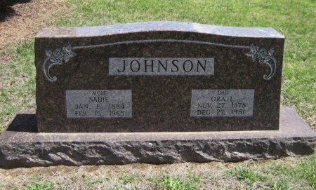 JOHNSON, SADIE - Cowley County, Kansas | SADIE JOHNSON - Kansas Gravestone Photos