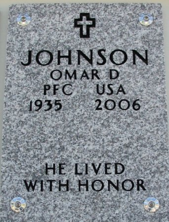 JOHNSON, OMAR DEESON (VETERAN) - Cowley County, Kansas | OMAR DEESON (VETERAN) JOHNSON - Kansas Gravestone Photos