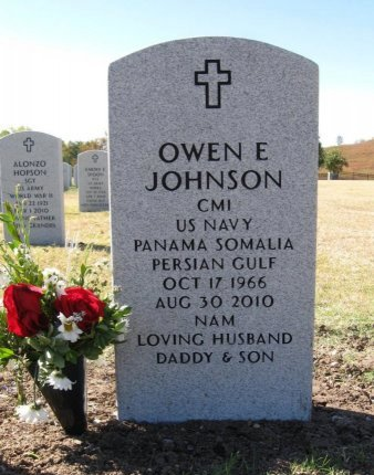 JOHNSON, OWEN EUGENE (VETERAN PGW) - Cowley County, Kansas | OWEN EUGENE (VETERAN PGW) JOHNSON - Kansas Gravestone Photos