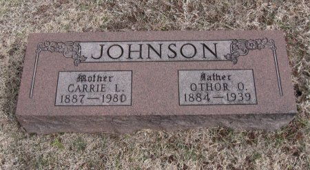 JOHNSON, OTHOR OTIS - Cowley County, Kansas | OTHOR OTIS JOHNSON - Kansas Gravestone Photos