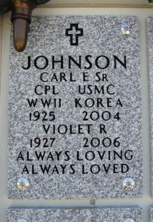 JOHNSON, VIOLET R - Cowley County, Kansas | VIOLET R JOHNSON - Kansas Gravestone Photos
