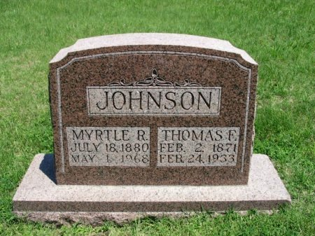 JOHNSON, MYRTLE R - Cowley County, Kansas   MYRTLE R JOHNSON - Kansas Gravestone Photos