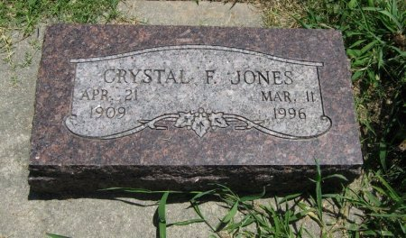 JONES, CRYSTAL F - Cowley County, Kansas   CRYSTAL F JONES - Kansas Gravestone Photos