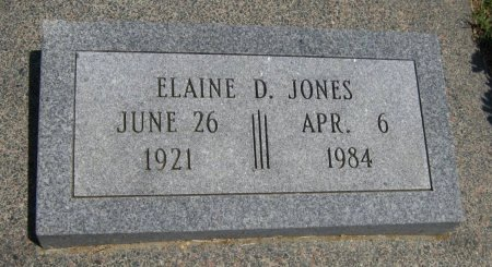 JONES, ELAINE D - Cowley County, Kansas   ELAINE D JONES - Kansas Gravestone Photos