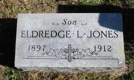 JONES, ELDREDGE L - Cowley County, Kansas | ELDREDGE L JONES - Kansas Gravestone Photos