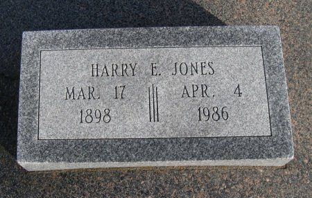 JONES, HARRY E - Cowley County, Kansas | HARRY E JONES - Kansas Gravestone Photos