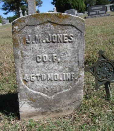 JONES, JOEL M (VETERAN UNION) - Cowley County, Kansas | JOEL M (VETERAN UNION) JONES - Kansas Gravestone Photos
