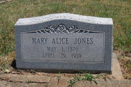 JONES, MARY ALICE  - Cowley County, Kansas   MARY ALICE  JONES - Kansas Gravestone Photos