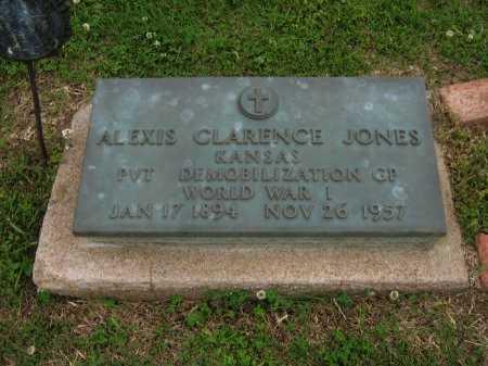 JONES, ALEXIS CLARENCE (VETERAN WWI) - Cowley County, Kansas | ALEXIS CLARENCE (VETERAN WWI) JONES - Kansas Gravestone Photos