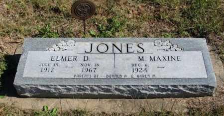 JONES, ELMER DONALD (VETERAN WWII) - Cowley County, Kansas   ELMER DONALD (VETERAN WWII) JONES - Kansas Gravestone Photos