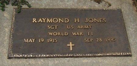 JONES, RAYMON H (VETERAN WWII) - Cowley County, Kansas   RAYMON H (VETERAN WWII) JONES - Kansas Gravestone Photos