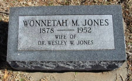 JONES, WONNETAH M - Cowley County, Kansas   WONNETAH M JONES - Kansas Gravestone Photos