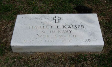 KAISER, HARLEY L (VETERAN WWII) - Cowley County, Kansas | HARLEY L (VETERAN WWII) KAISER - Kansas Gravestone Photos