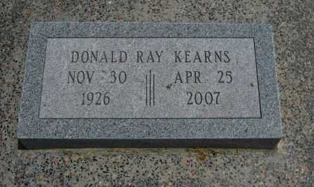 KEARNS, DONALD RAY - Cowley County, Kansas   DONALD RAY KEARNS - Kansas Gravestone Photos