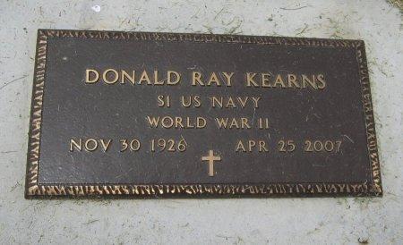 KEARNS, DONALD RAY (VETERAN WWII) - Cowley County, Kansas | DONALD RAY (VETERAN WWII) KEARNS - Kansas Gravestone Photos