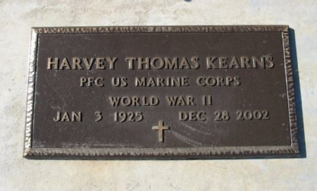 KEARNS, HARVEY THOMAS (VETERAN WWII) - Cowley County, Kansas | HARVEY THOMAS (VETERAN WWII) KEARNS - Kansas Gravestone Photos