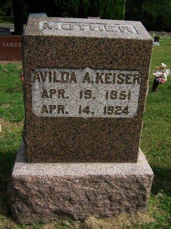 KEISER, AVILDA A - Cowley County, Kansas | AVILDA A KEISER - Kansas Gravestone Photos