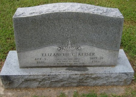 KEISER, ELIZABETH C - Cowley County, Kansas   ELIZABETH C KEISER - Kansas Gravestone Photos