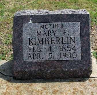 KIMBERLIN, MARY ELIZABETH - Cowley County, Kansas | MARY ELIZABETH KIMBERLIN - Kansas Gravestone Photos
