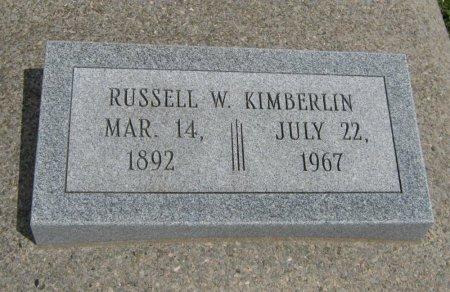 KIMBERLIN, RUSSELL W - Cowley County, Kansas | RUSSELL W KIMBERLIN - Kansas Gravestone Photos
