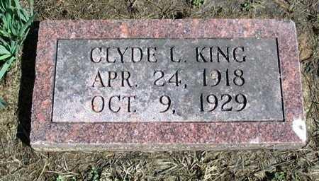 KING, CLYDE LESTER - Cowley County, Kansas | CLYDE LESTER KING - Kansas Gravestone Photos