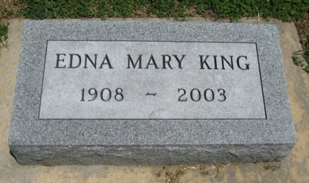 KING, EDNA MARY - Cowley County, Kansas | EDNA MARY KING - Kansas Gravestone Photos