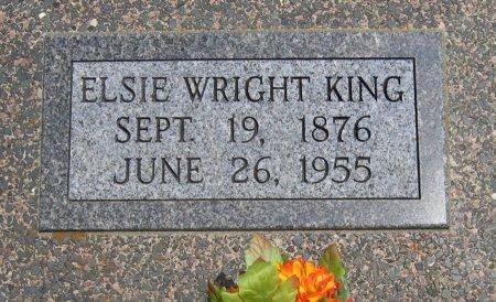WRIGHT KING, ELSIE - Cowley County, Kansas | ELSIE WRIGHT KING - Kansas Gravestone Photos