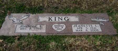 KING, JEANETTE L - Cowley County, Kansas | JEANETTE L KING - Kansas Gravestone Photos